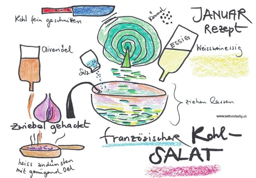 Französischer Kabissalat
