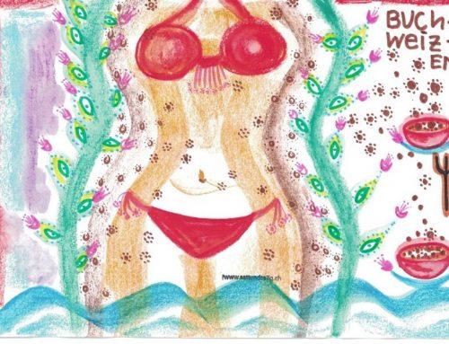 Krieg die Bikini-Kurve mit Buchweizen