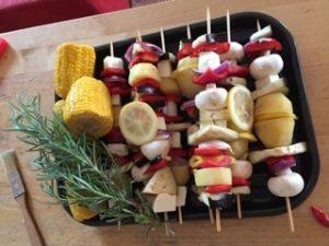 Bedarfsorientierte Ernährung BoE - Sommer-Gemüsespiesse
