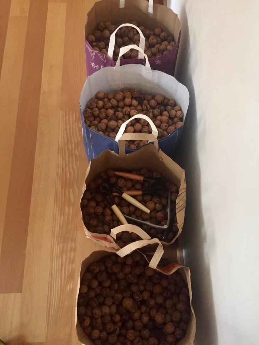 Säcke voll Nüsse